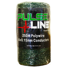 Electric Fence Fencing 250m 6 Strand Green Poly Wire Twine