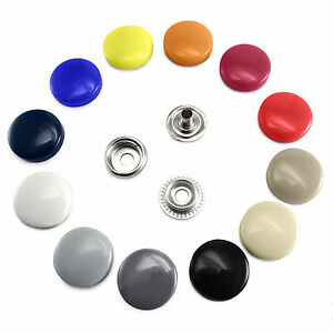 17 mm Plastic Cap Poppers Snap Fasteners Press Studs Round spring Socket B3A