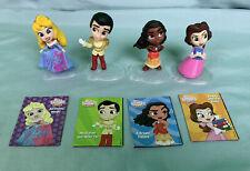 Lot Of 4 Disney Princess Comics Minis Series 1 & 2 Figures