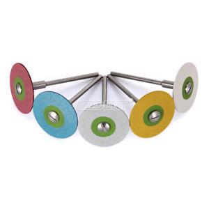 Dental Rubber Diamond Polisher Wheel Disc For Porcelain Restorations 5 Sizes