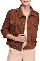 Free People Womens OB902802 Jacket Relaxed Brown Size XS