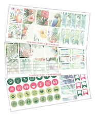Tropical Planner Stickers, 3 sheets, The happy planner, summer sticker