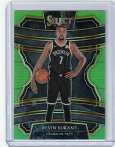 KEVIN DURANT 2019-20 PANINI SELECT NEON GREEN PRIZM #65 #ED 43/75 NETS