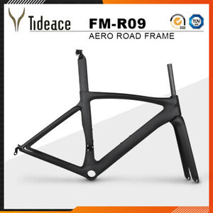 Road Racing Carbon Fiber 700C Bicycle Frames Aero 49/52/54/56/58cm Bike Frameset