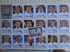 PANINI Women's World CUP Canada 2015 Team USA 19 stickers team set RARE HTF
