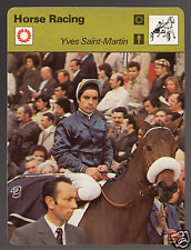 YVES SAINT-MARTIN Allez France Jockey Horse Racing 1978 SPORTSCASTER CARD 26-06