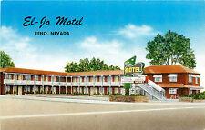 Reno Nv El-Jo Motel W. 4Th St. Roadside Chrome P/C