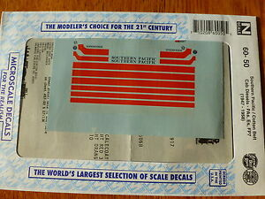 "Microscale Decal N #60-50 Railroad Decal Set - SP -- ""Daylight"" Cab Unit Diesels"