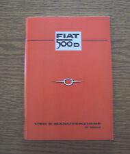 Uso e manutenzione FIAT 500 D use and maintenance