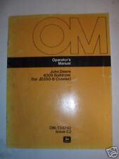 John Deere 6305 Bulldozer Operator's Manual