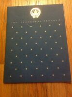 Official 1981 President Ronald Reagan Inauguration Program George H.W. Bush