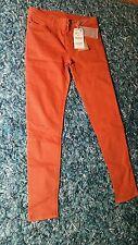 NEU - Damenhose Jeanshose Hose ZARA Mid rise skinny fit Gr. 38 stretch orange