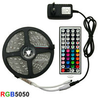 LED Strip Light 5050 SMD 2835 RGB 5M 10M 15M Tape +Remote Control + 12V Adapter