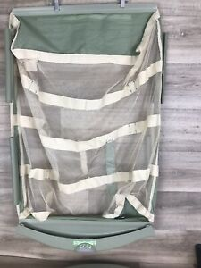 GRACO Pack N Play Replacement Clip On Mesh Bassinet Insert Green curved rounded