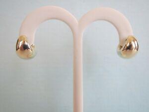 "14K YELLOW or WHITE GOLD CARLA Brand Electroform EARRINGS 11.3mmW,1/2"" Size 2.9g"