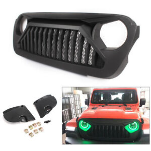 Front Gladiator Angry Monster Mesh Grille Grill For Jeep Wrangler JL 2018-2019