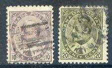 Canada 1903 used copies of the 10c and 20c Edward 7th used (2016/05/11#04 )