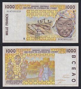 Africa Ovest 1000 francs 1991 BB+/VF+  C-06