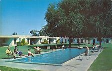 Mesa Arizona Elms Motel with Swimming Pool 1950-60s Chrome Postcard