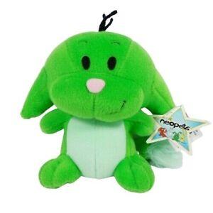 """Neopets Kacheek 6"""" Green Plush Stuffed Animal 2004"""