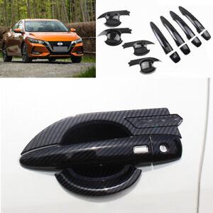 For Nissan Sylphy Sentra 2020 carbon fiber outside door bowl handle cover trim