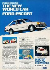 1981 Ford World Car Escort - Original Advertisement Print Art Car Ad J649