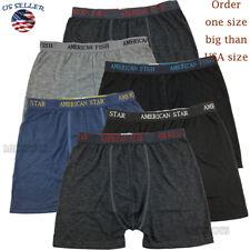 NEW 3 Mens Boxer Briefs Trunks Shorts Underwear Cotton Stretch Size S-2XL (2)