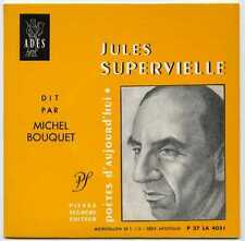 Disque 33t format 45t Jules SUPERVIELLE dit par Michel Bouquet / Adès Mint-