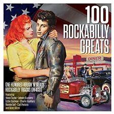 100 ROCKABILLY GREATS - ELVIS PRESLEY/DEAN BAND/CARL PERKINS/+ 4 CD NEU