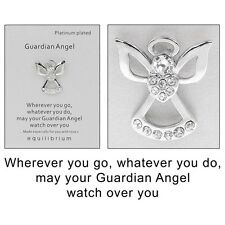 Equilibrium Platinum Plated Guardian Angel Watch Over You Pin Brooch   54483