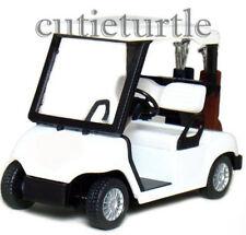 "4.3"" Kinsfun Golf Club Cart Model Caddy Car With Club Pull Back Action All White"
