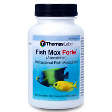 Fish Health Antibiotics Thomas Labs Fish-mox Forte 500mg 100 Count Treatment
