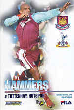 2002/03 WEST HAM UNITED V TOTTENHAM HOTSPUR 01-03-03 Premier League (Very Good)
