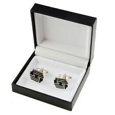 Megnetic Black Cufflink Cuff Links Storage Gift Box Jewelry Display Case Holder