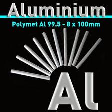 """10 PC. in Alluminio Rods, al Purity 99.5% - 4"""" x 5/16"""" METAL elemento bar lingotti"""