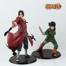 New ! Set Of 2pcs Naruto Uchiha Itachi & Rock Lee 17cm/6.8'' PVC Figure Loose