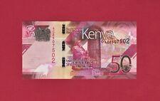 BEAUTIFUL KENYAN UNC NOTE: 50 Shillingi 2019 (Pick-New) - Very Collectible Note