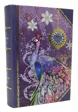 Punch Studio Gold Foil Nesting Book Box Purple Jewel Peacock 61676 Small