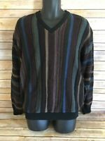 NORM THOMPSON TUNDRA Texture Biggie Hip-Hop Pullover Sweater Size Medium Vintage