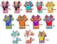 Women Traditional African Print Dashiki Dress 3/4 Sleeve Party Shirt Plus Size