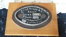 Lokschild,Fabrikschild,Dampflok,kein Dachbodenfund,Fried Krupp AG,1942,Essen