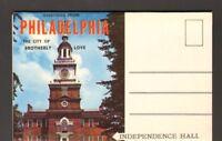 Undated Unused Postcard Souvenir Folder of Philadelphia Pennsylvania PA