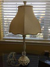 Kids Girls White Table Lamp Glass white Shade Nursery Lighting Bedroom Fixture