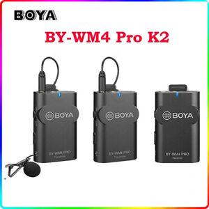 Boya BY-WM4 Pro K2 Dual channel wireless Lavalier Microphone For Smartphone DSLR