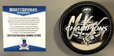 CHRIS KUNITZ SIGNED 2009 STANLEY CUP CHAMPS PUCK PITTSBURGH PENGUINS BECKETT COA