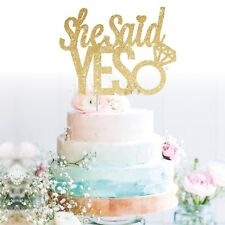 We're Engaged she Said Yes Bride Cake Topper Glitter Hen Party, Engagement were