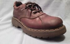 Dr Martens 8A87 4eye brown leather oxfords low boots, size US M5/W6.5 Eu 37, Doc