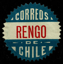 CHILE, OFFICIAL SEAL, RENGO, SAWTOOTH, MNG