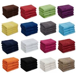 4er PACK Waschlappen Seiftücher Handtücher Duschtücher Badetücher Saunatücher XL