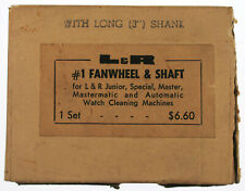 "L&R #1 Fan Wheel w/ Long 3"" Shaft for Watch Cleaning Machine NEW NOS D-2200"